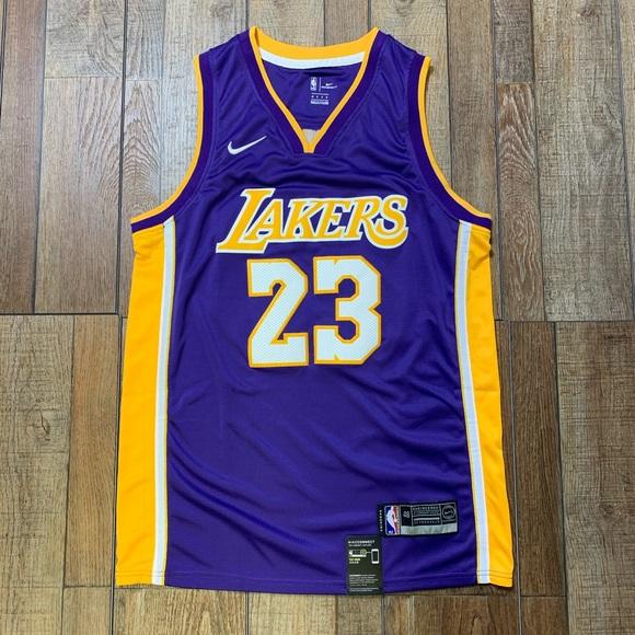 super popular e96d5 14175 NEW Lebron James LA Lakers Nike Swingman Jersey NWT